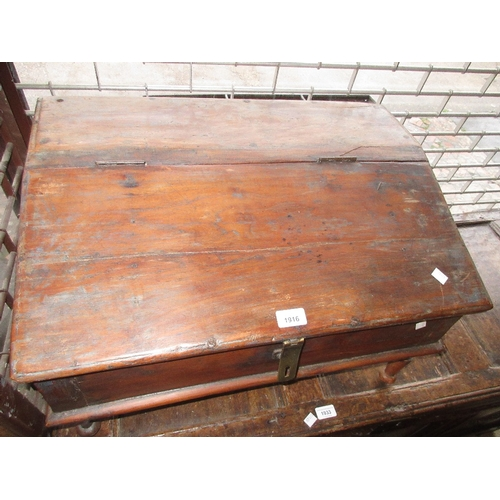 1916 - Antique Dutch Colonial travelling writing bureau with traces of original paint...