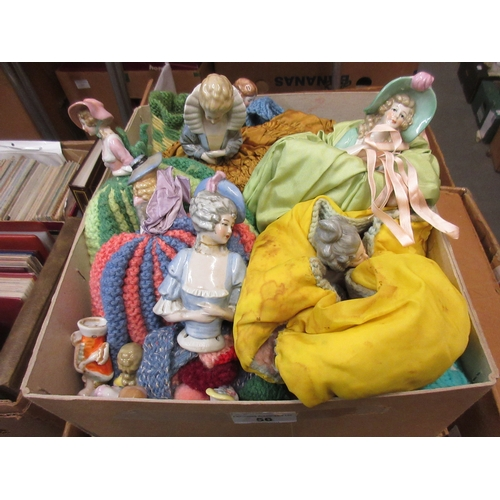 56 - Collection of various porcelain half doll ' Cosy ' figures...