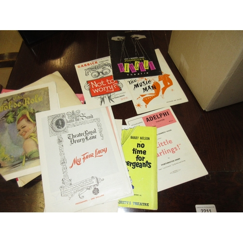 96A - Small quantity of historic stamp sets, quantity of theatre programmes, signed print of a windmill an...