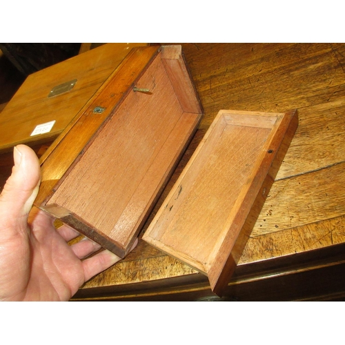 2320 - Small 19th Century mahogany artists colour box presented by the Dean of Salisbury, 1872, together wi...