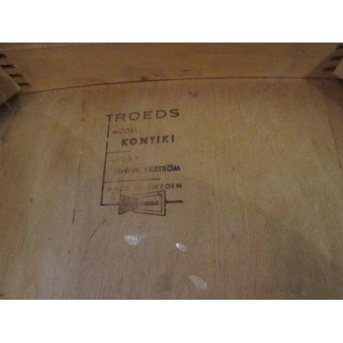 2286 - Pair of Danish teak Kontiki dining chairs designed by Yngve Ekstrom for Troeds...