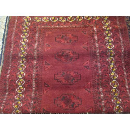 25 - Two Afghan Belouch rugs...