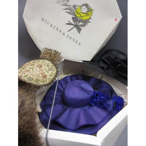 50 - Quantity of miscellaneous textiles including: furs, crochet, hats etc...
