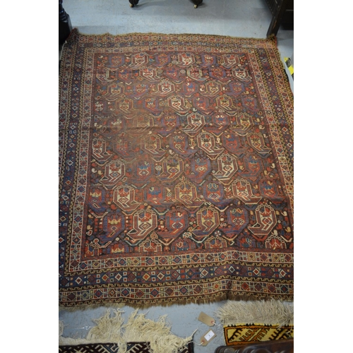 1 - Small South West Persian rug with an all-over Boteh design and borders (slight wear), 6ft x 4ft 10in...