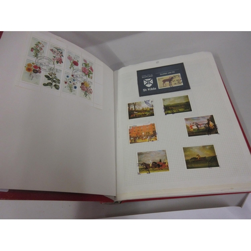 104 - Album of World stamps, mainly birds, flowers and animals...