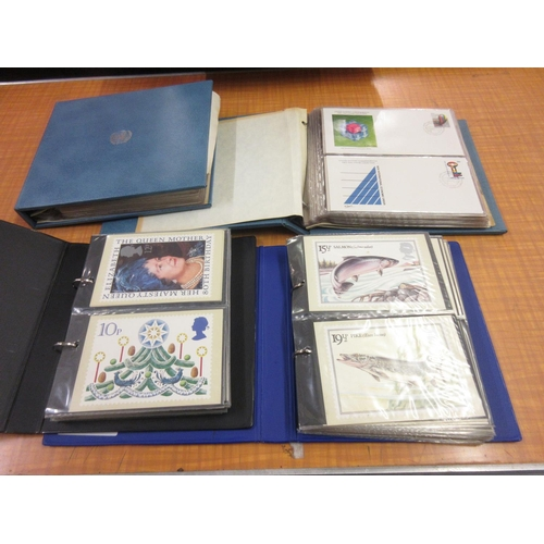 108 - Two albums, United Nations Commemorative First Day covers, together with two albums, Post Office Pic...