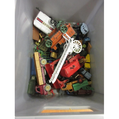 110 - Quantity of miscellaneous die-cast metal play worn model vehicles...