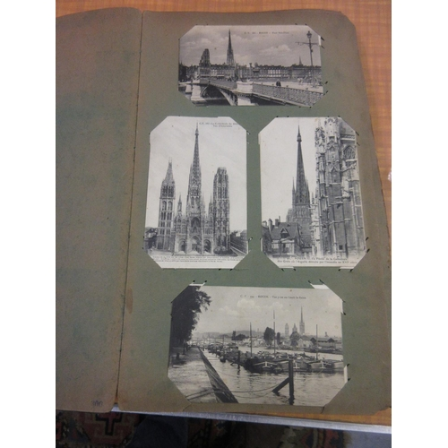120 - Early 20th Century postcard album containing mainly World War I French black and white postcards...
