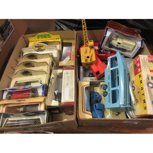 128 - Dinky Supertoys 20 ton lorry mounted crane (unboxed), Dinky Toys Pullmore car transporter and a Vang...