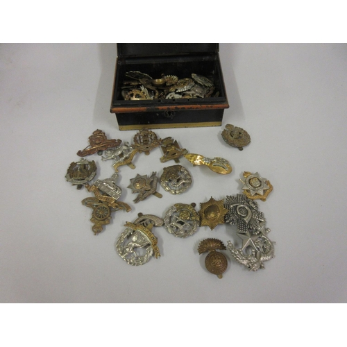 131 - Collection of various military cap badges...