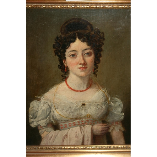 1325 - After Sir Thomas Lawrence, 19th Century oil on panel, portrait of Lady Forbes, inscribed verso and N...