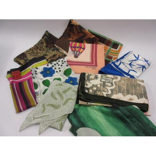 19 - Quantity of ladies silk scarves including Liberty and Missoni...