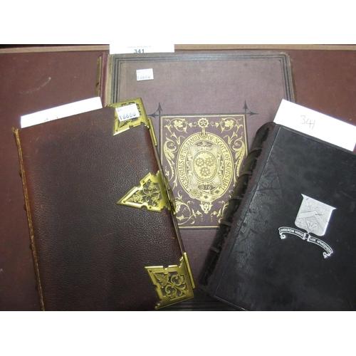 341 - 19th Century canvas bound gilt tooled volume, ' Memorials of the Family of Scott of Scott's Hall ' b...