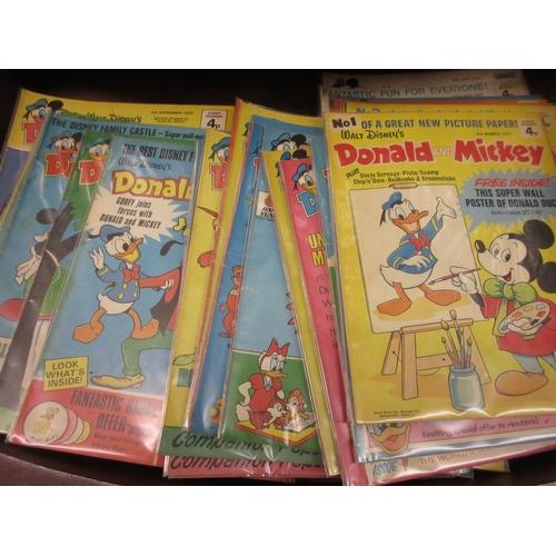345 - Large collection of 1970's Walt Disney comics (sixty plus)...