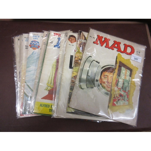 347 - Quantity of British ' Mad ' magazine from the 1970's  / 80's...