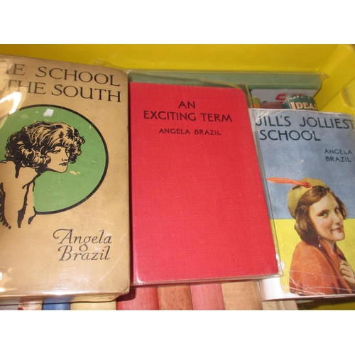 348 - Group of three books by Angela Brazil, fifteen early 20th Century children's annuals...