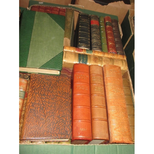 356 - Six part leather bound volumes, ' Works of Kingsley ', together with a quantity of other good qualit...