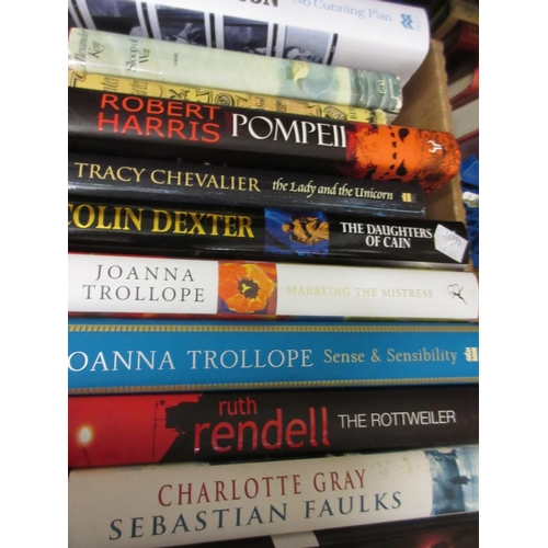 362 - Eleven various volumes, modern fiction including Colin Dexter, Joanna Trollope and P.D. James...