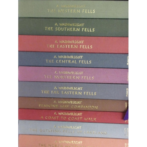 368 - A. Wainwright, boxed set of volumes, 50th Anniversary Edition, together with a quantity of other boo...