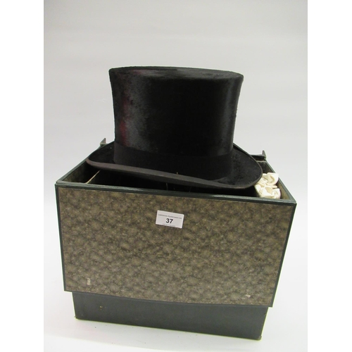 37 - Gentleman's top hat by Wippell & Company, in a fitted case...
