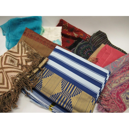38 - Quantity of ladies scarves and other textiles...