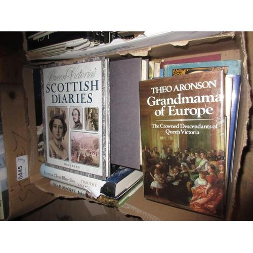 381 - Approximately sixteen volumes Queen Victoria's Scottish diaries, crowned descendants of Queen Victor...