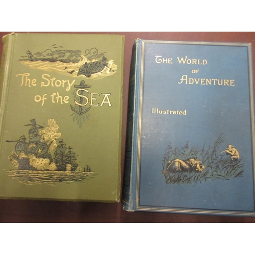 421 - Three volumes ' The World of Adventure ', printed Cassell and Co. 1890, two volumes ' The Story of t...