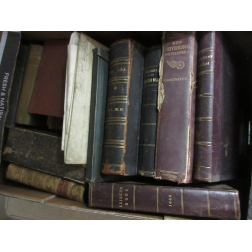 425 - Leather bound bible, 1801, together with a quantity of other miscellaneous books and indentures etc...