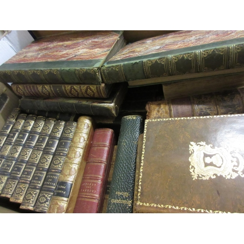 426 - Seven volumes ' History of England 'and other miscellaneous leather bound books etc...