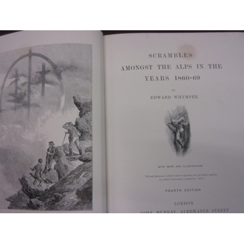 430 - ' Scrambles Amongst The Alps in the Years 1860 - '69 ' by Edward Whymper, 4th Edition printed by Joh...