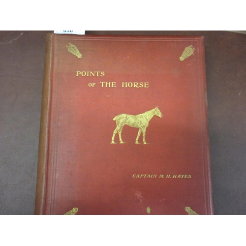 436 - Captain M. Horace Hayes, one volume ' Points of the Horse ', Second Edition, published Thacker & Com...