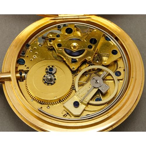 905 - Breguet.  No. 2330, a half quarter repeating sapphire cylinder pair cased watch, the silvered engine...
