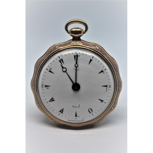 922 - Le Roy Eleve de Breguet, a Continental gold and enamel cased verge watch for the Turkish market, the...