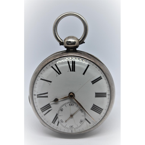925 - English plain silver open face duplex pocket watch, signed to the back plate Bourchier, Longacre, Lo...