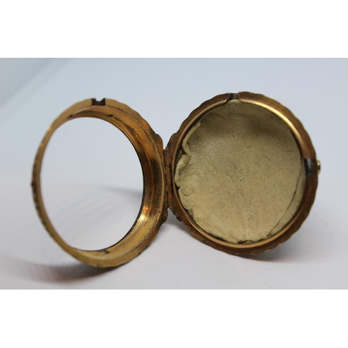 928 - Gilt metal pair cased verge watch, signed to the back plate J.N. Farndon, Deddington, No. 603, the e...