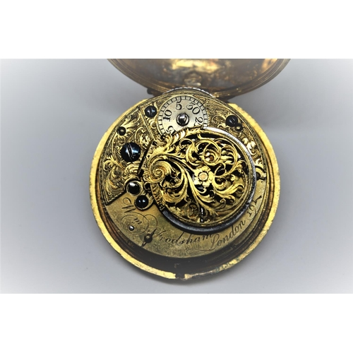 939 - Gilt verge watch, the movement signed William Frodsham, London, No. 191, the gilt champleve dial wit...