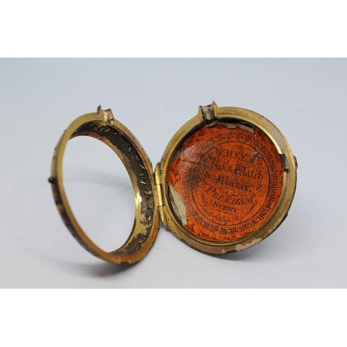 942 - Small gilt pair case verge watch, the movement signed Simpson and Higginson, Strand, London, No. 381...