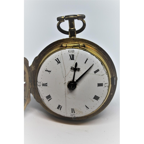 945 - Gilt metal verge watch, the movement signed Thomas Taylor, Holborn (the movement incomplete), the la...