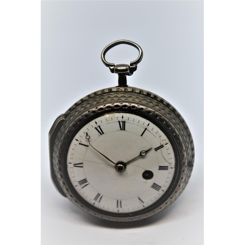 946 - White metal pair cased cylinder watch, the movement signed Thomas Mudge and W. Dutton, London, No. 8...