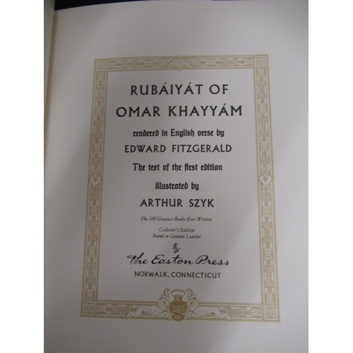 416 - Small collection of five illustrated Rubaiyat's...