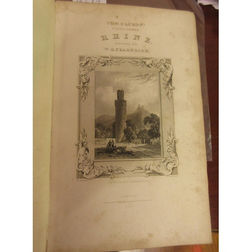 428A - One volume, ' Tombleson's Views of the Rhine ', edited by W.G. Fearnside 1552,  part leather bound (...