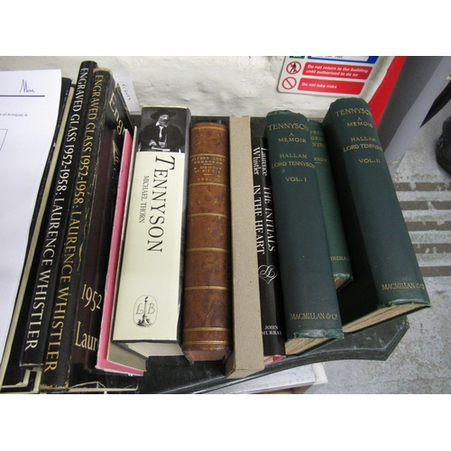 385 - Approximately twenty volumes relating to Laurence Whistler, Tennyson etc, some signed...
