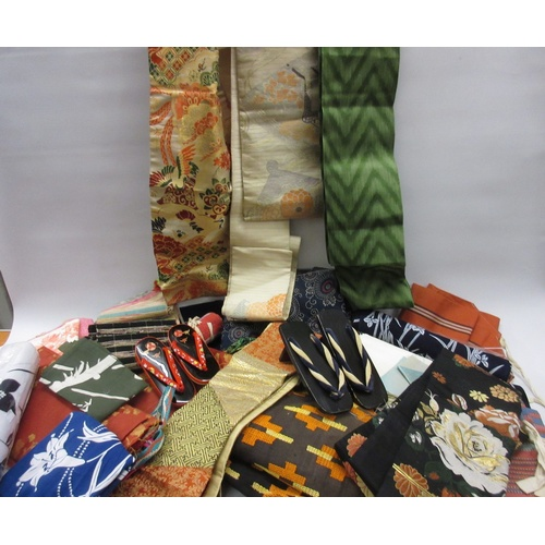 21A - Quantity of various fabrics and fabric samples, African, European and Japanese including Japanese Ob...