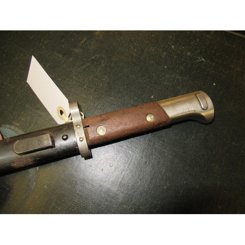132 - Elsener Schwyz Swiss World War I bayonet with scabbard, together with a German Horster bayonet with ...