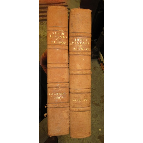 423 - Box containing a collection of 18th, 19th and 20th Century leather bound books...