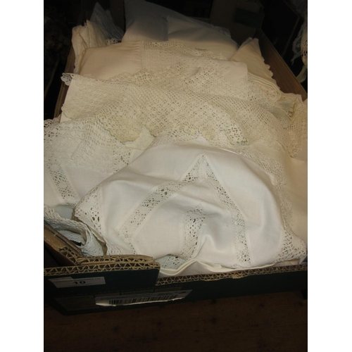 10 - Large quantity of miscellaneous lace, crochet and other table linen...