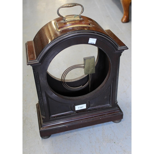 1107 - Late 19th or early 20th Century mahogany and brass mounted clock case...
