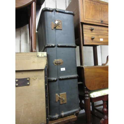 1600 - 20th Century fibre travelling trunk...