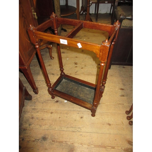 1608 - 19th Century mahogany two division stick stand...