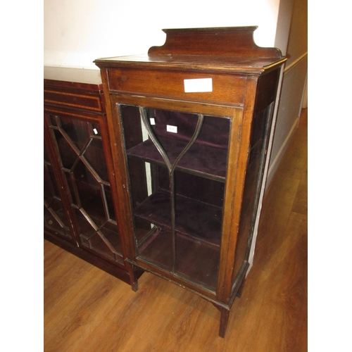 1636 - Small early 20th Century oak single door display cabinet...